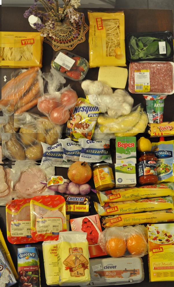 Запас продуктов на неделю ценой 96 лева