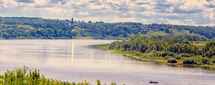 Панорама реки Оки у города Касимов