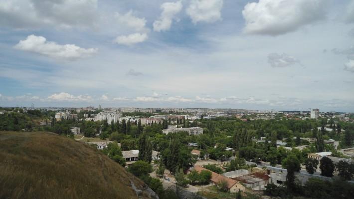 Обзорный вид на город