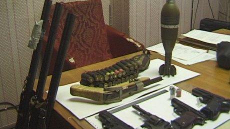 Часть арсенала, изъятого у ОПГ «Олимпия»