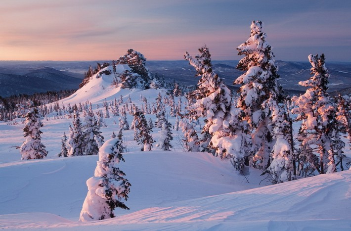 Зимний пейзаж Кемеровской области