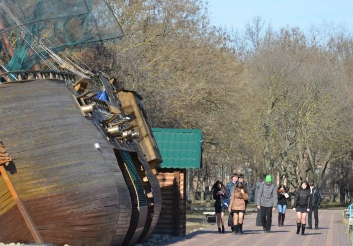 Ейский парк в феврале