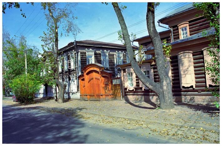 Старые деревянные дома в Иркутске