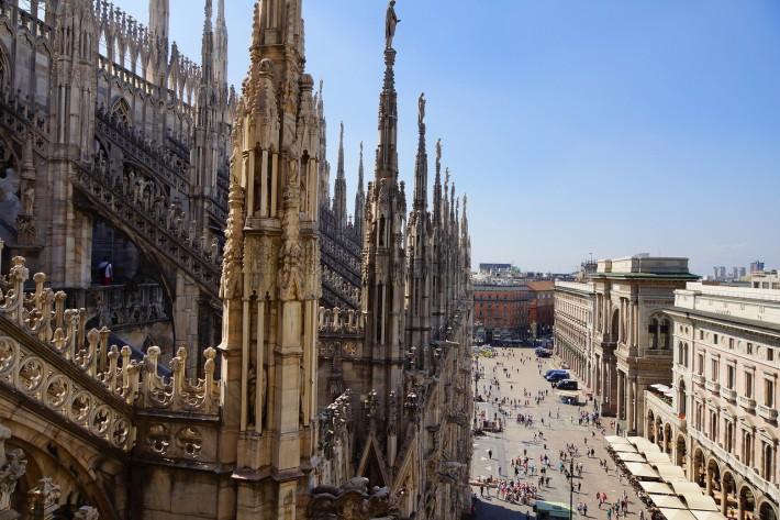 Вид с Миланского собора