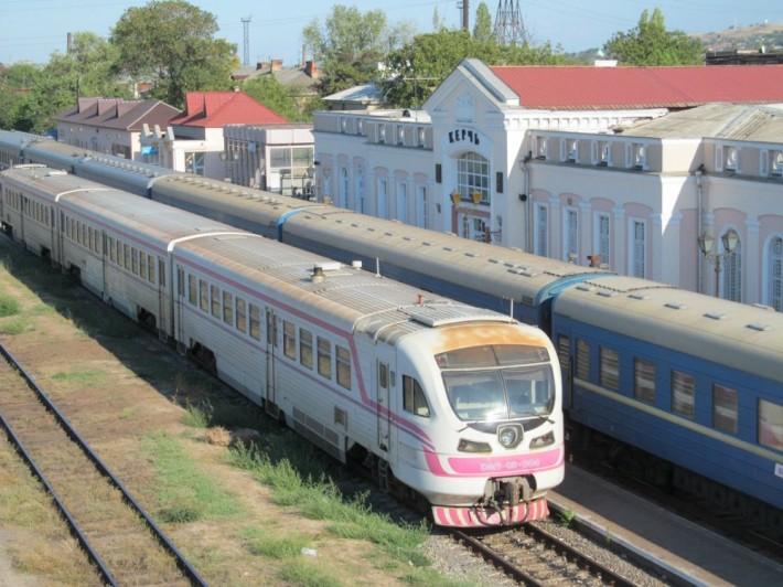 Рельсовый автобус Феодосия-Керчь