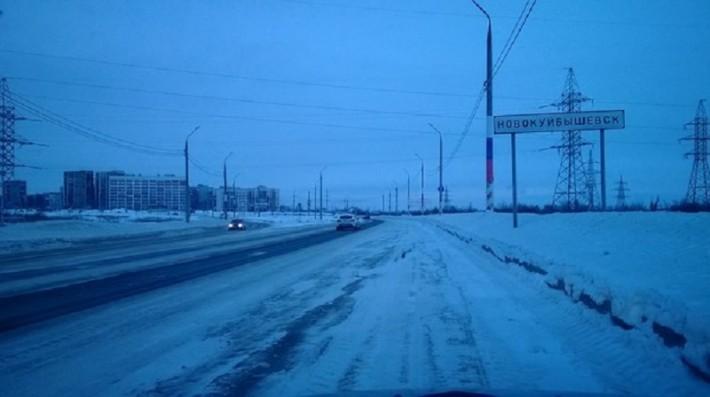 Пр-т. Победы, въезд в г. Новокуйбышевск