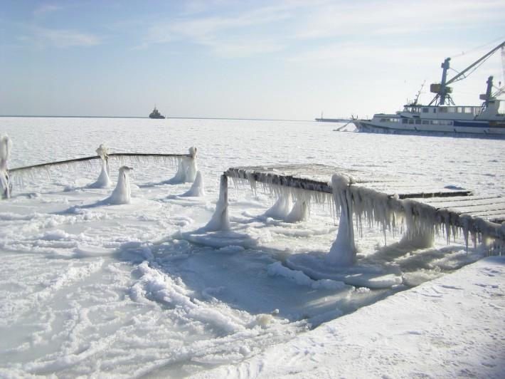 Зима в порту Евпатории