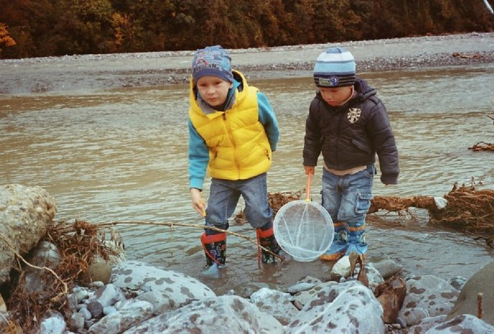 На речке в октябре