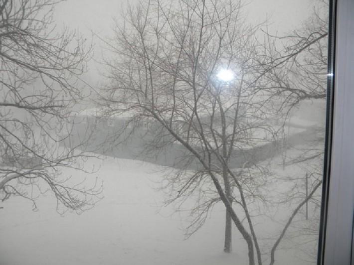 8 мая - снег в Хабаровске