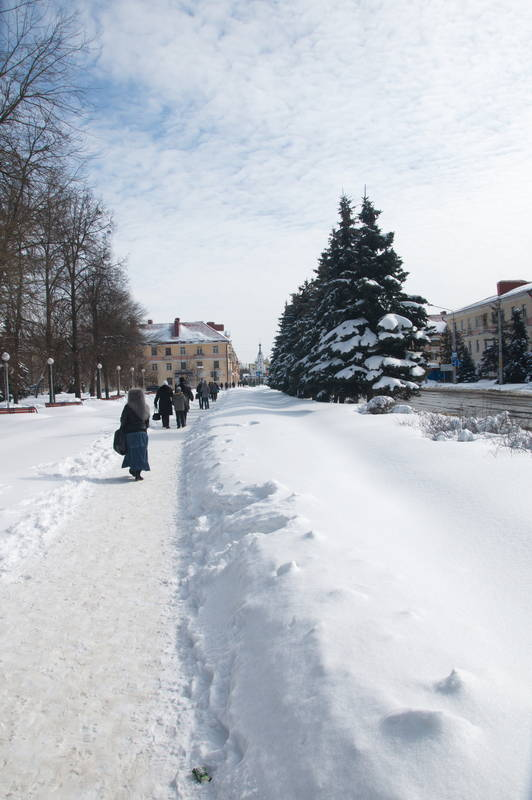 Даже зимой город чист и облагорожен
