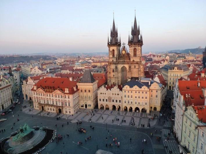 Вид на Староместскую площадь с городской башни
