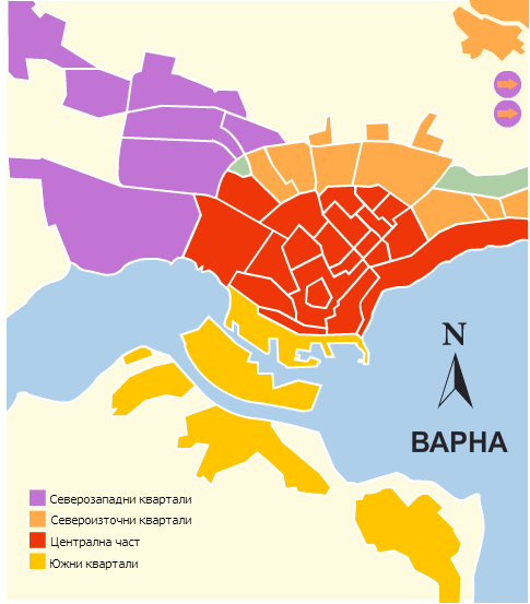 Районы Варны