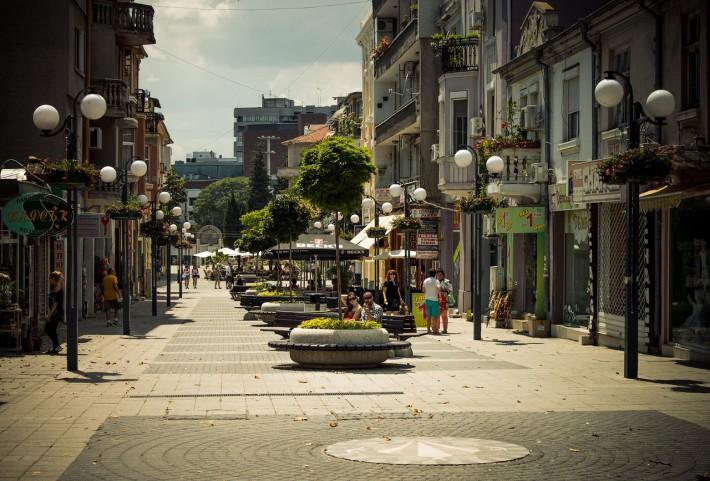 В Бургасе много пешеходных улиц