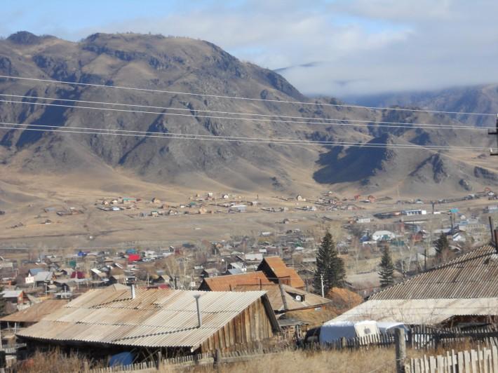 Вид на село Онгудай