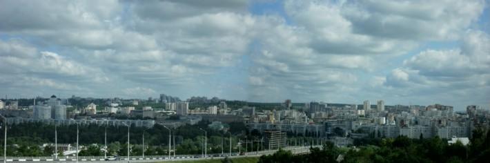 Панорама центральной части Белгорода (Центра)