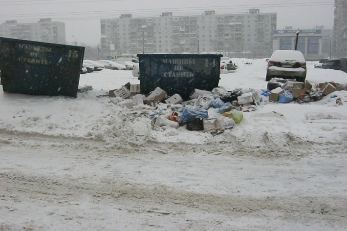 Типичное для Люберец явление, заснятое на Комсомольском проспекте