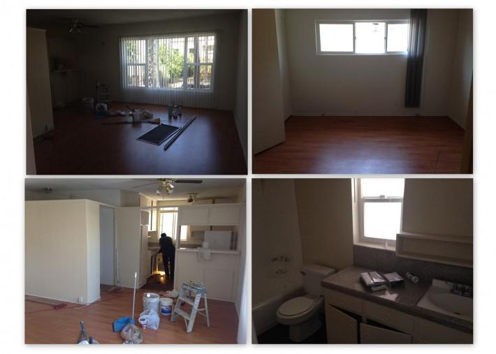 Подготовка соседней квартиры к заселению новыми жильцами (Лос Анджелес, штат Калифорния, США)