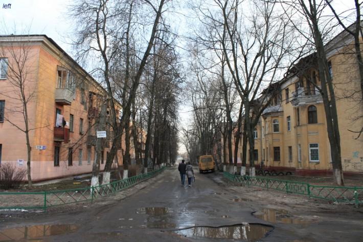 Одна из улиц в посёлке ВУГИ, 2012 год