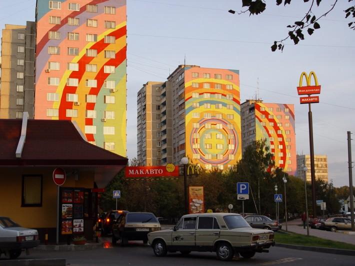 Дома в Раменском. Угол Гурьева и Михалевича