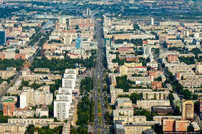 Протяжённость проспекта Ленина — 7 км