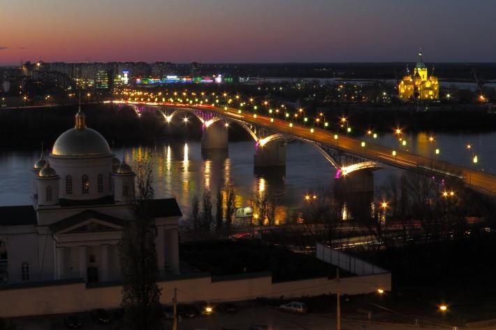 Подсветка Канавинского моста