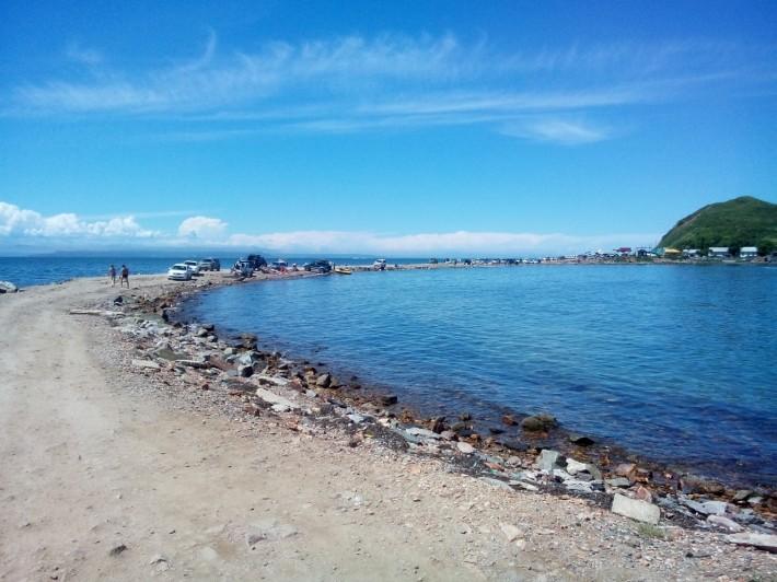 Пляж в районе маяка