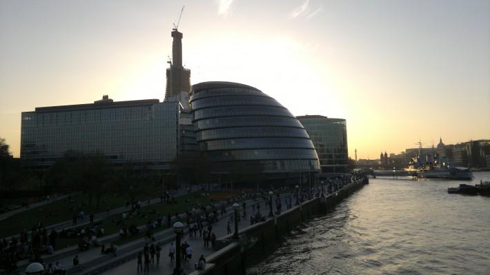 Вид на здание мерии Лондона