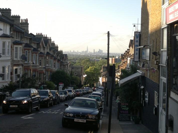 Вид на Лондонский сити