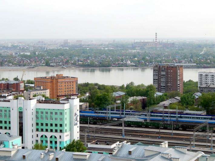 Новосибирск. Вид на Обь