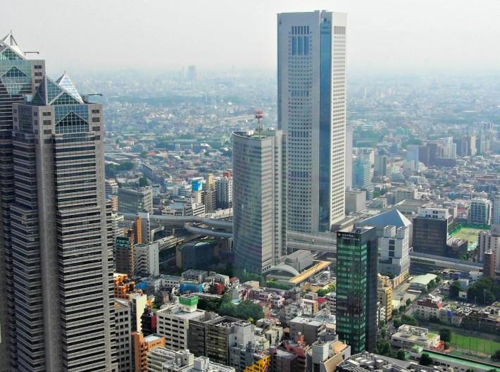 Токио. Вид с 45 этажа смотровой площадки