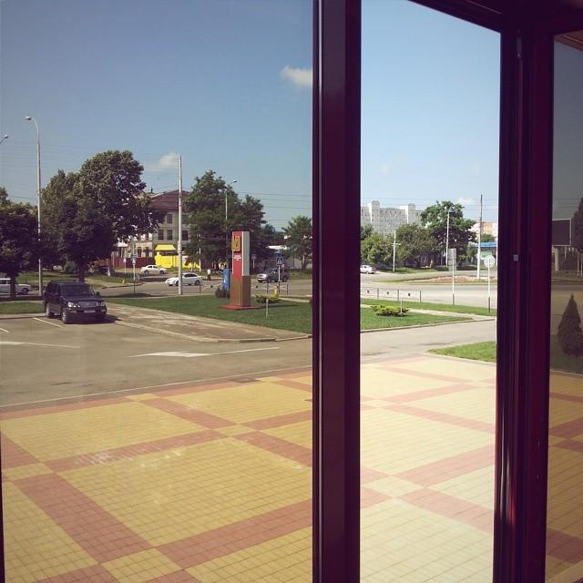 Пролетарская - бульвар Победы, вид из окон банка МИБ, Майкоп