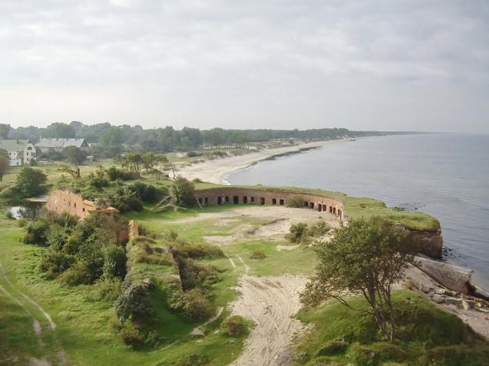 Форт Западный со стороны моря