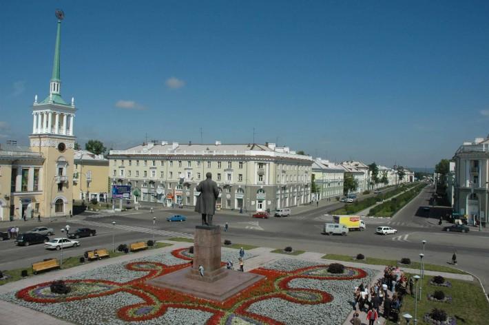 Ангарск. Площадь Ленина