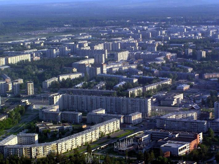 Вид на новые микрорайоны Ангарска