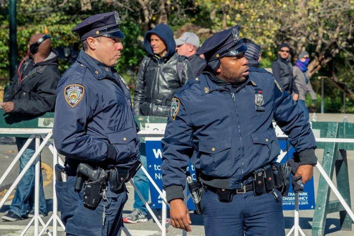 Нью-Йорк. Полиция обеспечивает безопасность