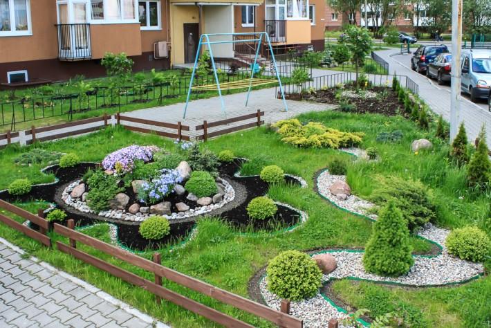 Один из уютных двориков Калининграда