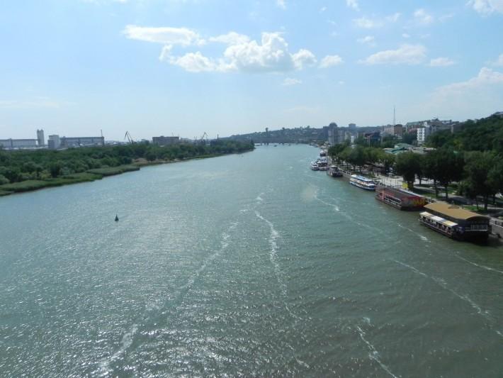 Вид на Дон с Ворошиловского моста