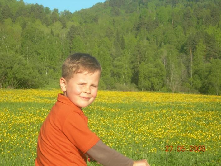 Мой старший сынок, первое лето после приезда
