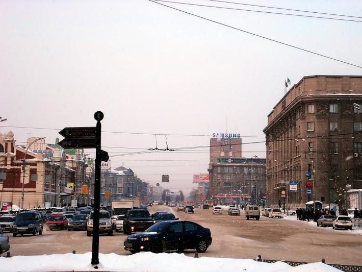 Красный проспект в Новосибирске