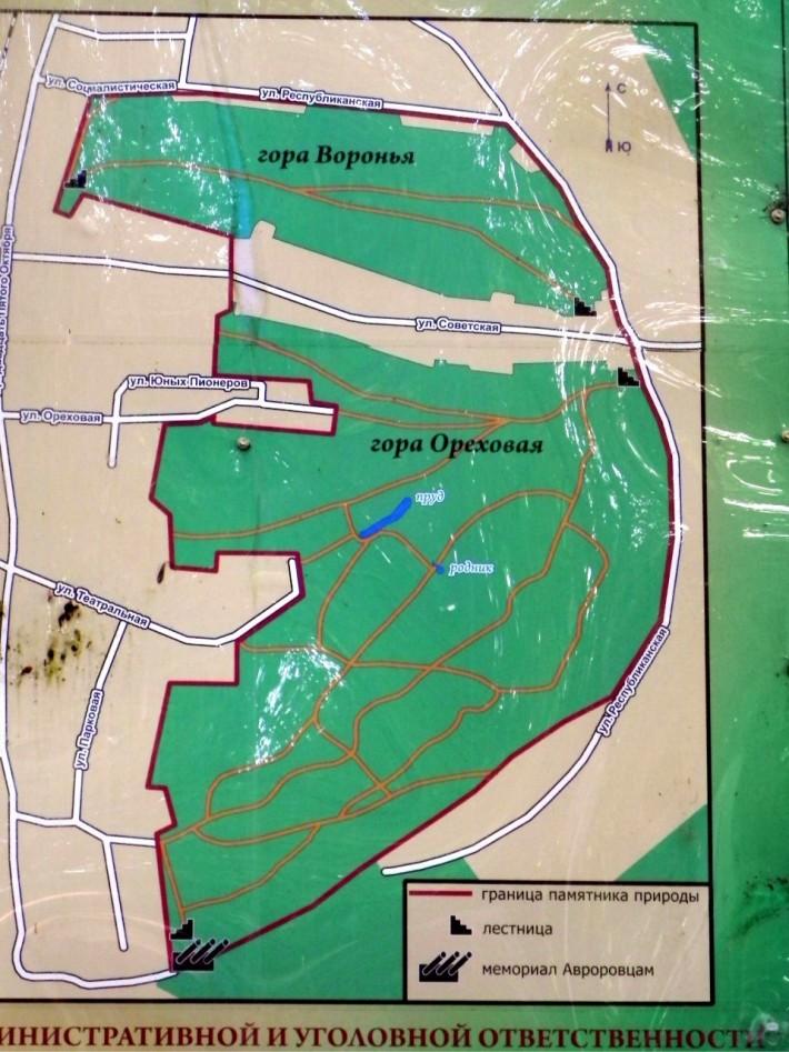 Схема Нагорного парка