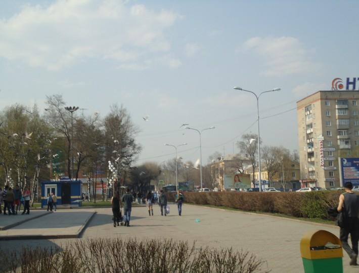 Центральная площадь Уссурийска