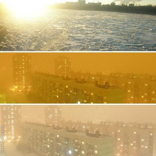 Зимнее солнце и зимний туман