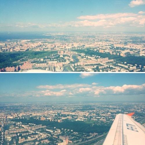 Обожаемый город под крылом самолета