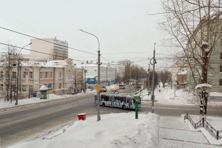 Томск. Перекрёсток Ленина и Кирова