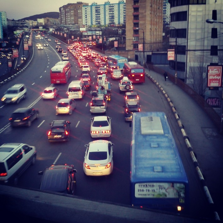 Пробка во Владивостоке