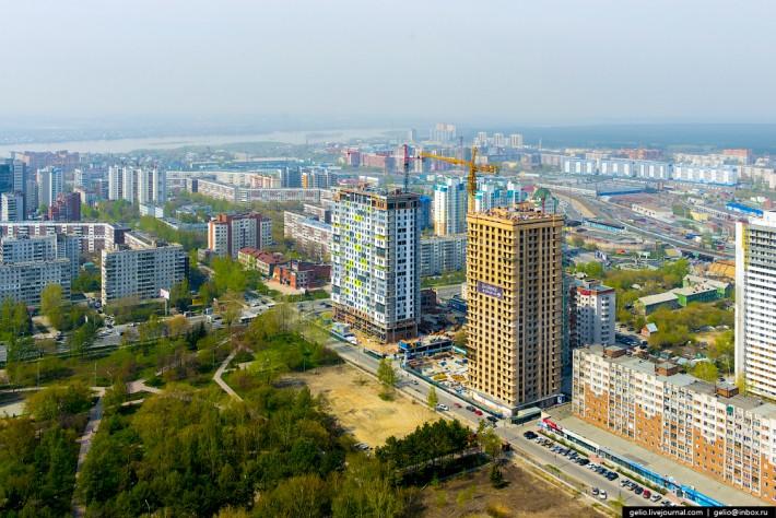Строительство двух новых домов в престижном Железнодорожном районе с видом на Нарымский сквер