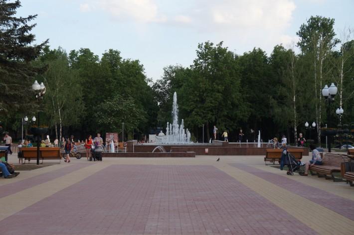 Новый фонтан на улице Победы
