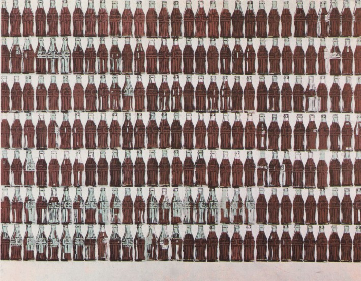 Coca-Cola 210 bottles by Andy Warhol 1962