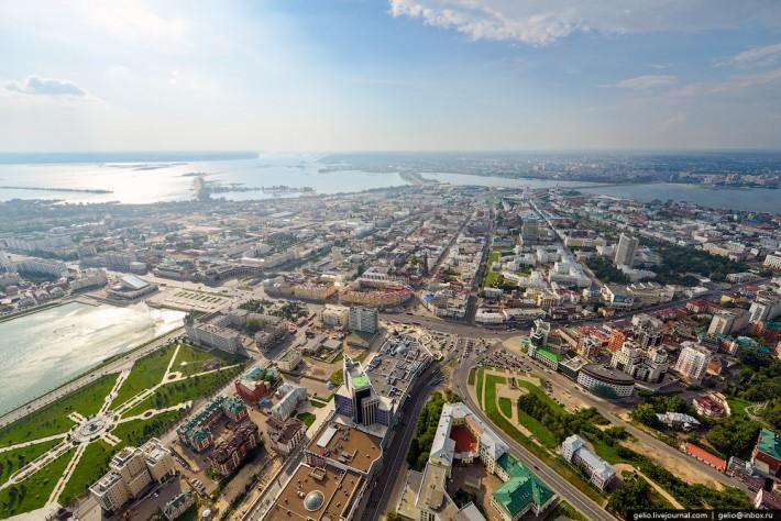 Казань, вид сверху