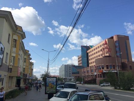 Улица Ленина (часть центра г. Якутска)